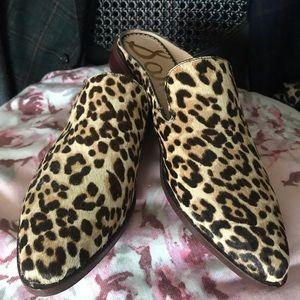 Sam Edelman Calf hair Leopard Mules